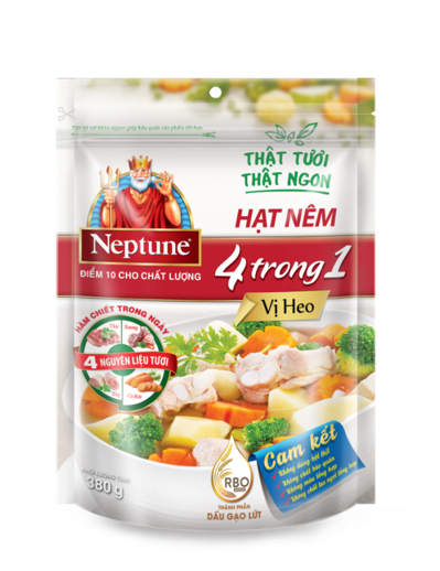 Neptune 4 In 1 Bouillon Granules - Pork Flavor