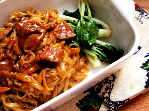 Mì gạo xào thịt bò sa tế kiểu Triều Châu